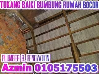 0105175503 TUKANG BAIKI BUMBUNG BOCOR, AREA PUCHONG