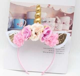 Unicorn head piece for kids