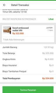 SOLD Tokopedia Fossil embossed VRI wallet