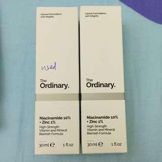 the ordinary niacinamide10%+zinc1% 30ml 美白精華