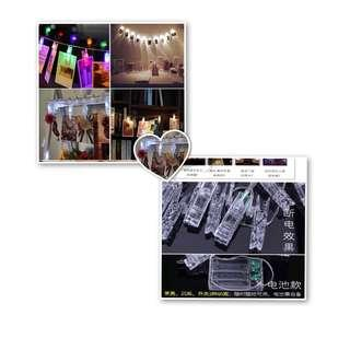 🚚 fairylights with photo clips