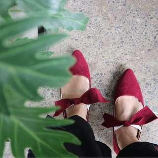 (NEW) Maroon Flat Shoes