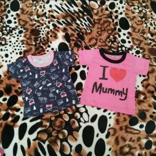 baby girl T-Shirt and romper
