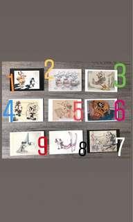 100 張迪士尼限量明信片(5張一組,可挑款)