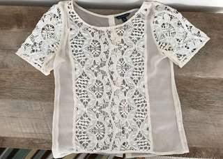 American Eagle sheer lace top