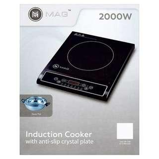 High Quality !! Anti-Slip Crystal Plate Induction Cooker
