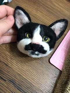 🚚 貓頭羊毛氈