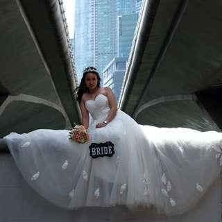 WEDDING GOWN/ BRIDAL GOWN /PRE-NUP GOWN