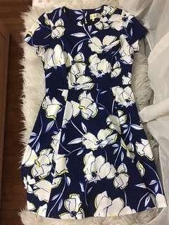 Authentic Eliza J Blue yellow Floral Drezs