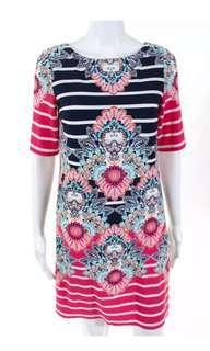 🚚 Authentic Eliza J Colourful Stripe Floral Dress
