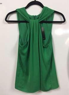 Emerald green top - S