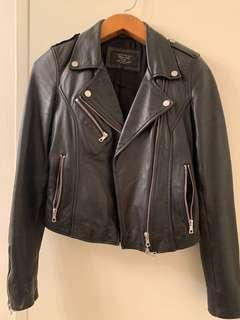 ZARA Premium Authentic Leather Moto Jacket XS