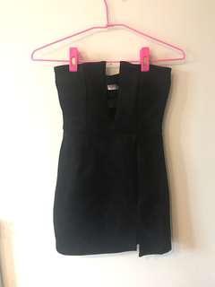 🚚 全新 轉賣 平口麂皮包臀洋裝