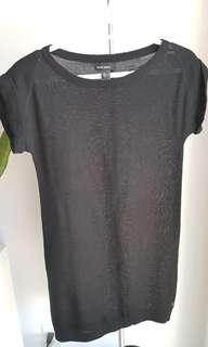 Black sweater dress from Mango, size XS