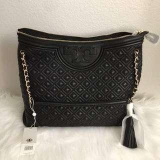 [清屋減價]全新 Tory Burch Fleming Leather Tote Bag 手袋 黑色