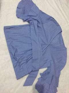 Baju blouse ikat biru wanita
