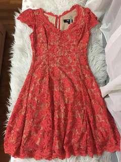 🚚 Authentic ABS Orange Lace Dress