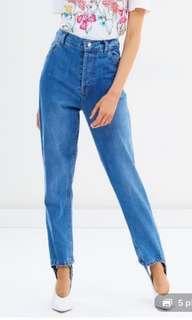 MLM the label RRP$169 stirrup Denim mom boyfriend jeans