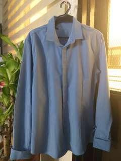 Long sleeve Polo blue