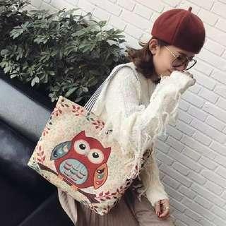 Tas Jinjing Wanita / Tote Bag Wanita / Tas Wanita Owl