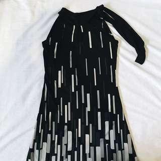 DKNY Black Halter Dress