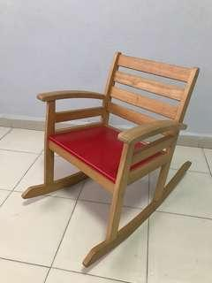 Wooden rocking kids size Chair