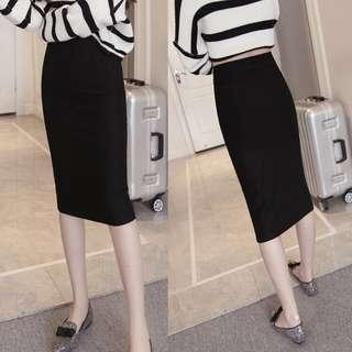 Midi OL Black Skirt #dressforsuccess30