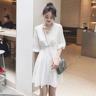 🚚 White Lace Trimmed Dress #dressforsuccess30