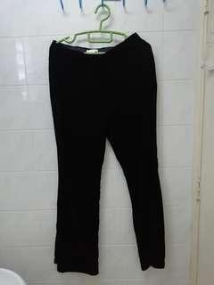 Velvety flare pants