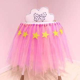 🚚 DIY Tulle roll / tutu table skirt