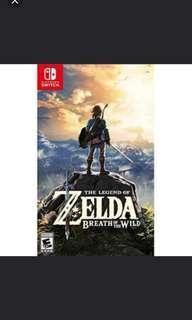 Switch Zelda 薩爾達傳說 荒野之息