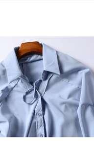 全新藍色特別版襯衫上衣