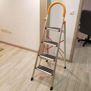 4-Step Ladder - 4 Steps Ladder Ladders Orange Ladder Orange Ladders