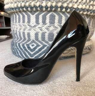 BRAND NEW Tony Bianco Black Patent stilettos size 7.5