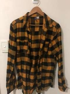 H&M Orange Flannel size M
