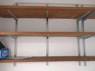 Real wood shelves