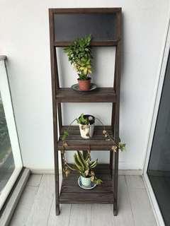 🚚 Solid wood flower stand rack w blackboard