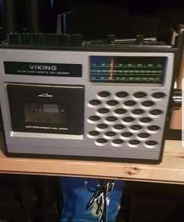 Vintage Viking tape deck radio