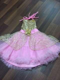 🚚 Pretty pink party frock - for 1 year kid