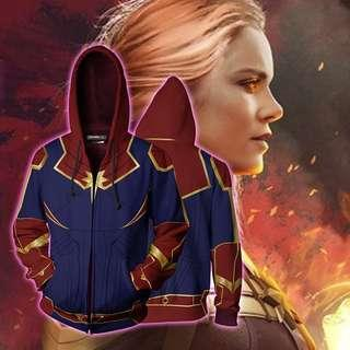 🔥The Avengers Captain Marvel Printed Hoodie🔥