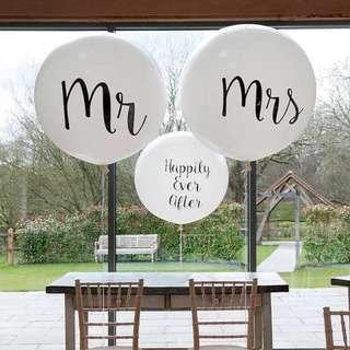 36inch Personalised perfectly Round balloons 🎈 [mr &mrs]