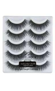 5 pairs of Model rock lashes