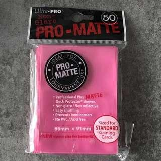 Pro Matte Cards Sleeve Bright Pink