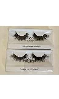 2 pairs of model rock dramatic false lashes