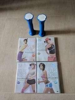 鄭多燕修身減肥套裝(4隻dvd,一對0.7kg啞鈴)