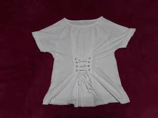 White Top with corset adjustable