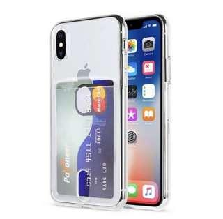 IPHONE XS MAX CLEAR CASE WITH CARD SLOT