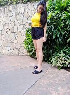 Zara Yellow cropped top