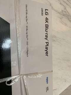 BRAND NEW LG 4K blu-ray player UBK80