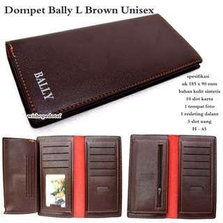 Promo Terbaru Dompet Pria Bally L Black Unisex - Brown